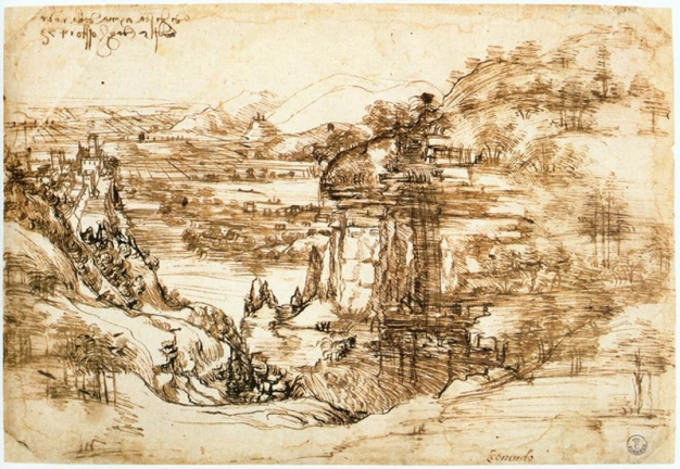 Paisagem_do_Arno_-_Leonardo_da_Vinci
